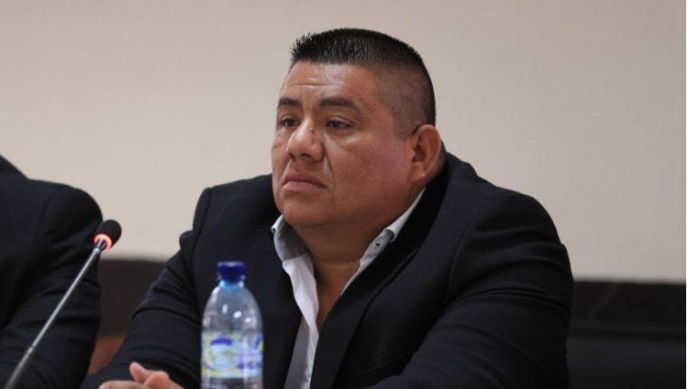 Wilson Luarcas, durante el comienzo de la audiencia este martes. (Foto Prensa Libre: Carlos Hernández)
