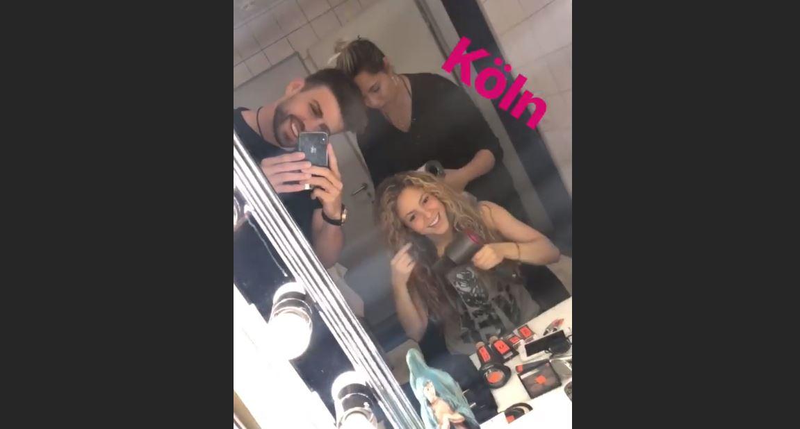 Gerard Piqué acompañó a Shakira en su concierto en Alemania, según compartió en sus historias de Instagram. (Foto Prensa Libre: Captura de Pantalla Instagram)