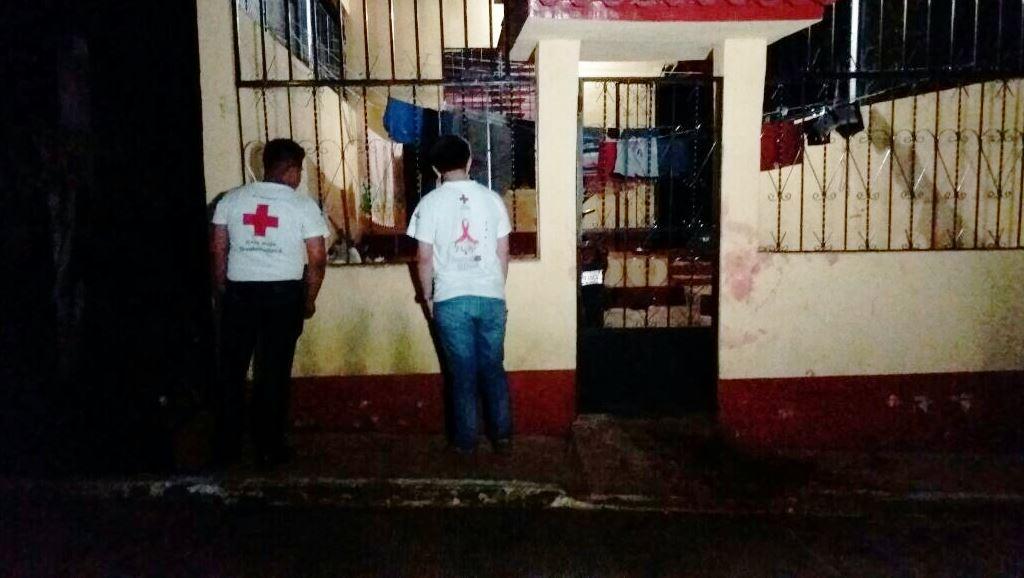 La vivienda donde sucedió el ataque. (Foto Prensa Libre: Rolando Miranda)