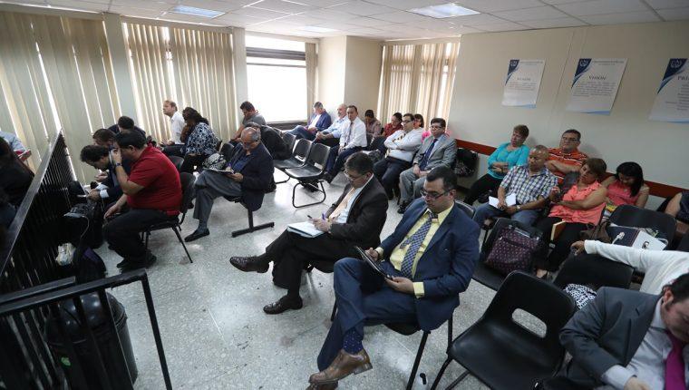 Tribunal Undécimo preside el juicio contra 21 personas por el contrato por servicios de pacientes renales que resultó ser mortal. (Foto Prensa Libre: Erick Avila)