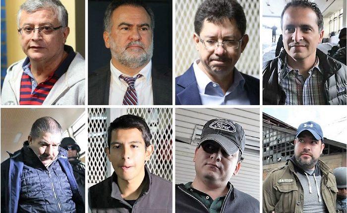 El Ministerio Público asegura que los capturados están involucrados en un caso de corrupción. (Foto Prensa Libre: Érick Ávila)