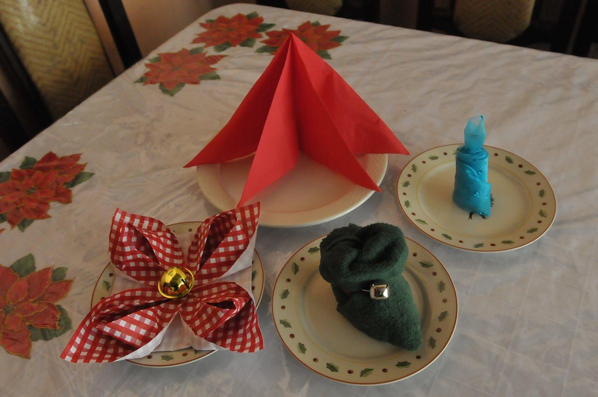Servilletas de papel o tela son una ornamentación perfecta para la mesa (Fotos Prensa Libre, Brenda Martínez)