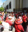 Salubristas han hecho movilizaciones para demandar al Ejecutivo mejores condiciones laborales. (Foto Prensa Libre: Hemeroteca PL)
