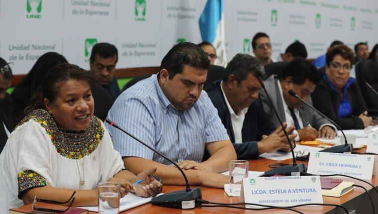 Varios gobernadores acudieron a una citación en el Congreso. (Foto Prensa Libre: Óscar Rivas)
