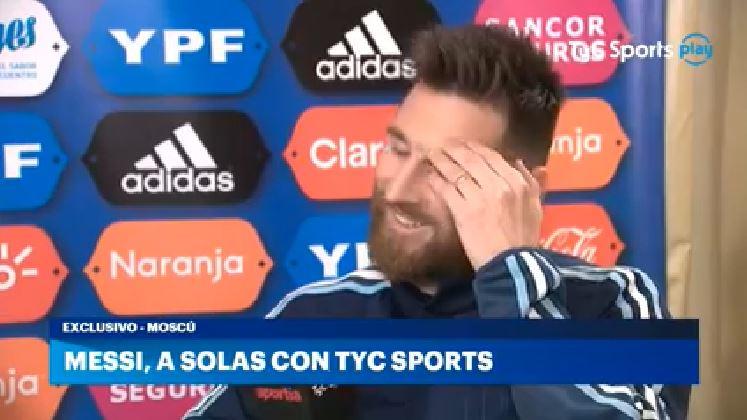 Lionel Messi disfruta de poder jugar con Argentina y se esfuerza al máximo para dar lo mejor dentro de la cancha. (Foto Redes).