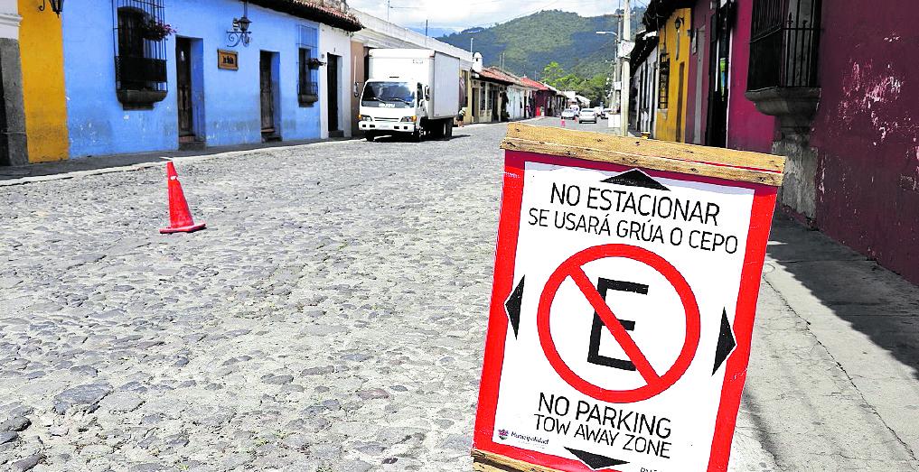Ampliarán lugares para parqueo de motos durante el fin de semana en Antigua Guatemala