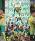 El bicampeón Guastatoya fue el mejor equipo del 2018 en el futbol guatemalteco. (Foto Prensa Libre: Francisco Sánchez, Érick Ávila y Norvin Mendoza)