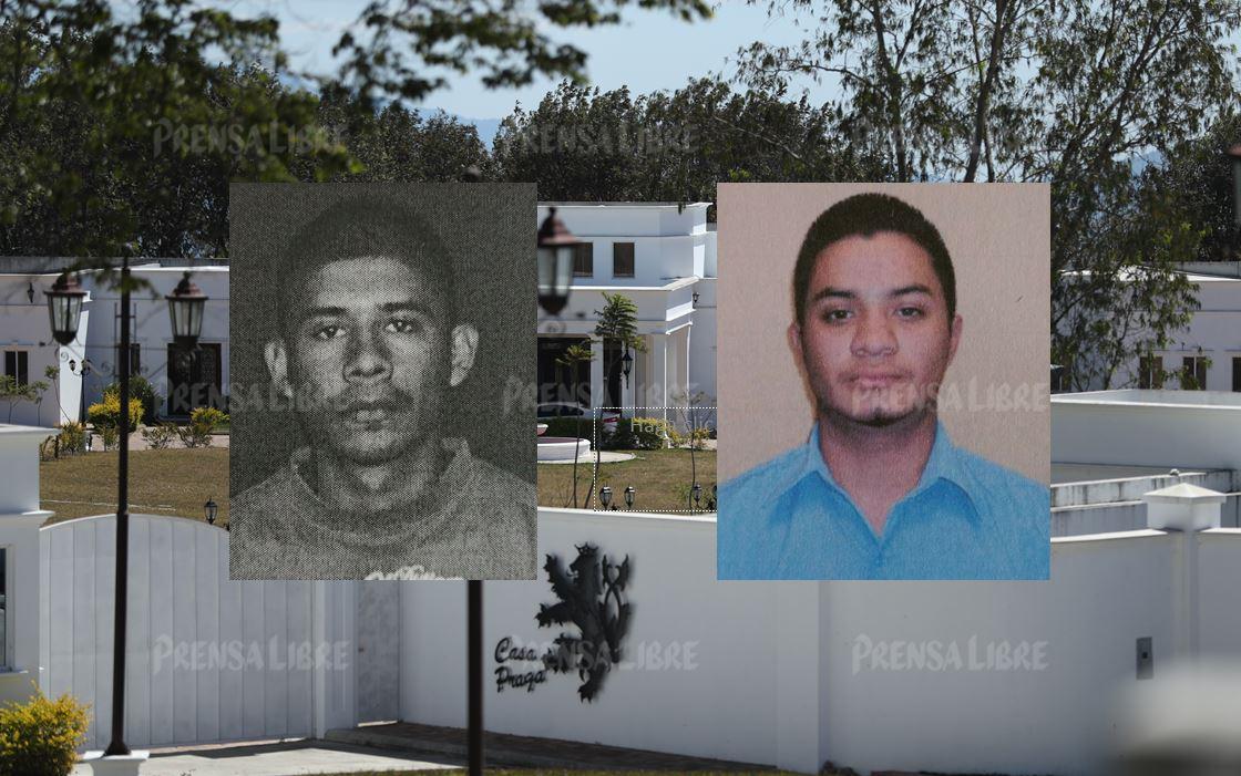 Carlos Gilberto Solórzano —izquierda— y Yoni José Valenzuela Mejía, se identificaron como jardineros en la mansión de Manuel Baldizón; ambos prófugos de la justicia desde el 2016. (Foto Prensa Libre)