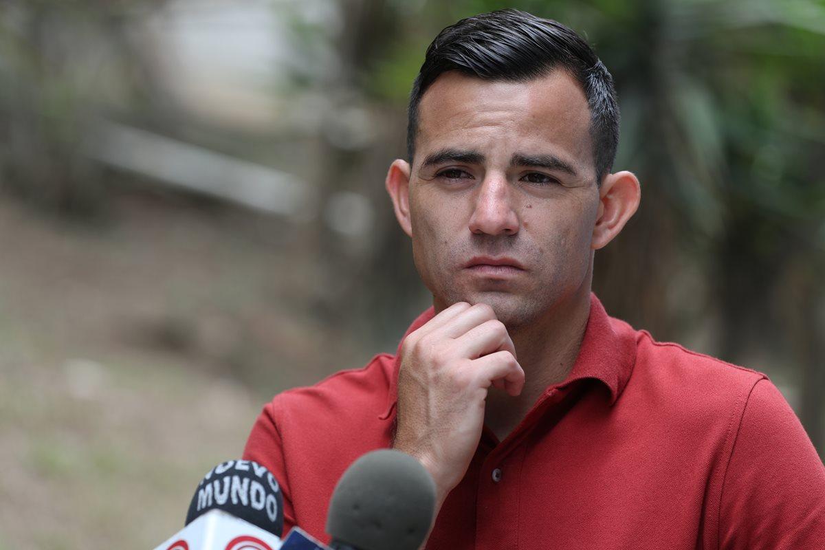Pappa ha tenido problemas con su disciplina desde que llegó a Municipal. (Foto Prensa Libre: Jorge Ovalle)