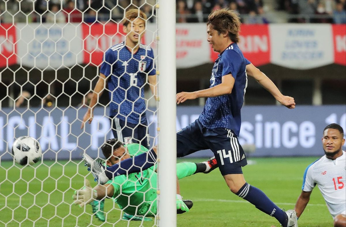 Japón superó a la Selección de Panamá en el amistoso disputado en el Denka Big Swan Stadium de Nigata. (Foto Prensa Libre: AFP).