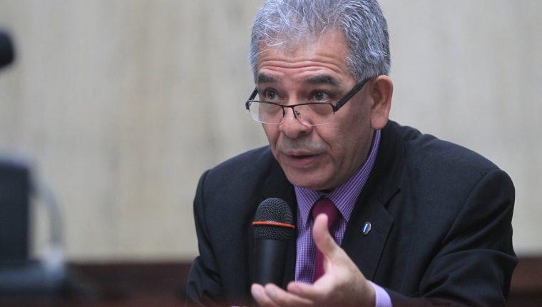 Miguel Angel Galvez, juez de Mayor de Riesgo B, conoce el caso Cooptación del Estado de Guatemala. (Foto Prensa Libre: Esbin Garcia)