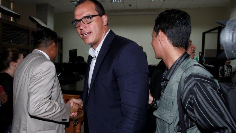 Dwight Pezzarossi es uno de los señalados en el caso Cooptación del Estado. (Foto Prensa Libre: Paulo Raquec)
