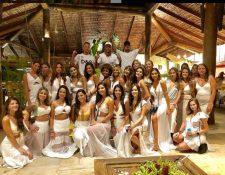 Neymar posteó en su cuenta de Instagram la imagen con 26 chicas invitadas en la fiesta para despedir el 2018. (Foto Instagram).