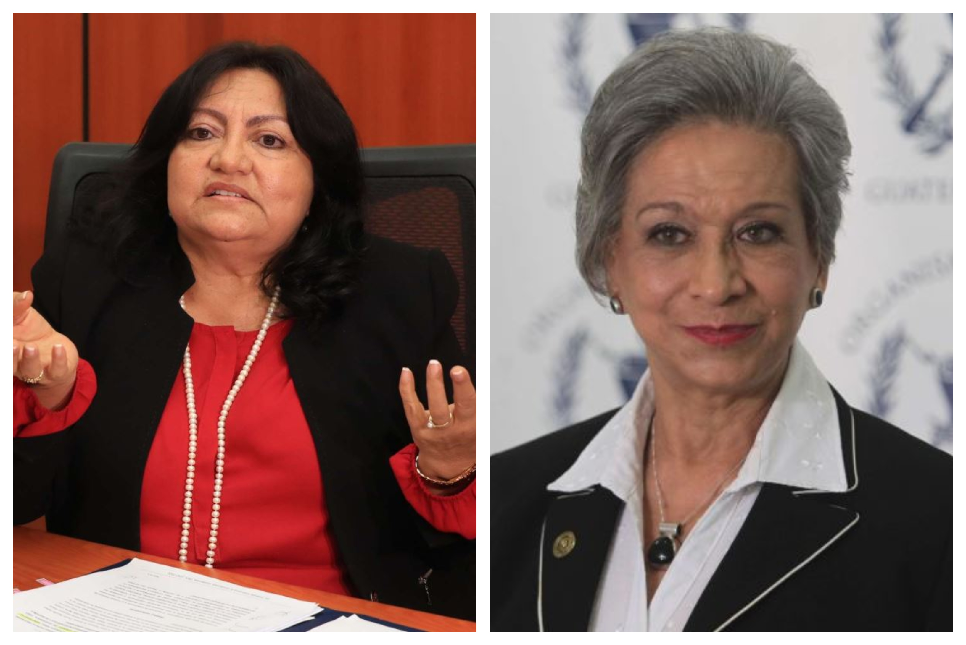 Delia Franco y María Eugenia Morales, magistradas de la CSJ. (Foto Prensa Libre: Hemeroteca PL)