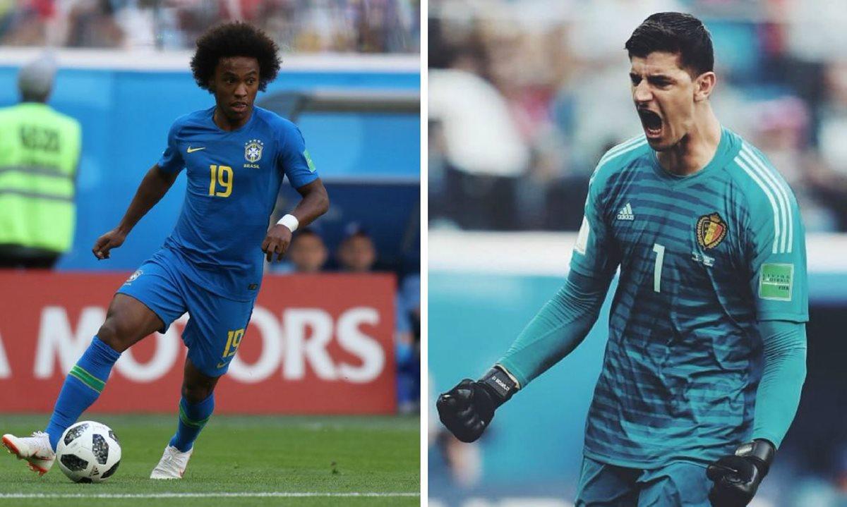 """Willian y Courtois podrían tener la puerta abierta para abandonar el club """"blue"""" con rumbo a España. (Foto Prensa Libre: TodoDeportes)"""