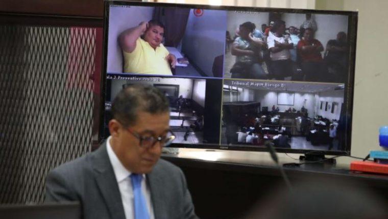 Eduardo Villatoro Cano, alias Guayo, supuesto narcotraficante, comparece en el juicio por videoconferencia. (Foto Prensa Libre: Hemeroteca PL)