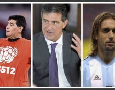 Maradona, Kempes y Batistuta critican la actuación de la albicileste en el camino a Rusia 2018. (Foto Prensa Libre: Hemeroteca PL)