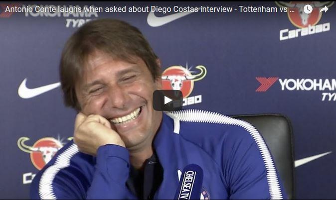 Antonio Conte aseguró que no está dispuesto a hacer las paces con Diego Costa. (Foto Prensa Libre: Youtube)