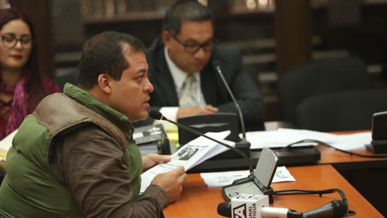 Diputado Julio Juárez durante la audiencia de este viernes. (Foto Prensa Libre: Esbin García).