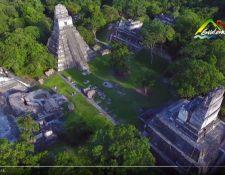 Toma del video con el cual se promocionan Guatemala como destino turístico. (Foto, Prensa Libre: video del Inguat)