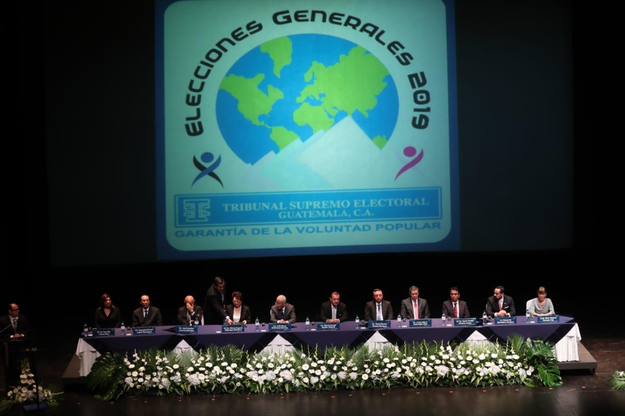 Los magistrados del TSE  definieron las elecciones generales para el 16 de junio. (Foto Prensa Libre: Hemeroteca PL).