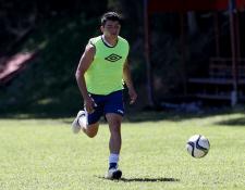 El delantero petenero Robin Betancourth espera ganarse un lugar en la Selección Nacional. (Foto Prensa Libre: Carlos Vicente)
