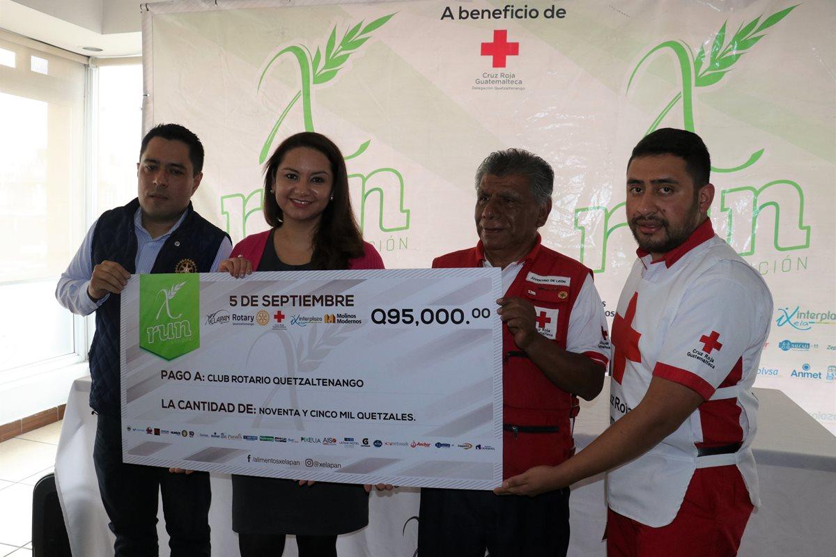 Carrera pedestre de Xelapan recauda Q95 mil a beneficio de la Cruz Roja de Quetzaltenango