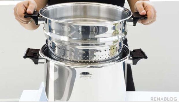 La ollas a presión del modelo 2153, de 9 litros, fueron retiradas del mercado guatemalteco. (Foto Prensa Libre: Renawarenet Pinterest)
