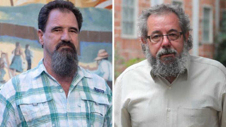 Padres Ademar Barilli y Mauro Verzeletti, personajes del Año de Prensa Libre. (Foto Prensa Libre: Esbin García)