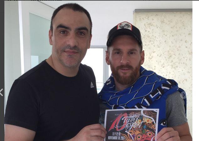 López además de ser el tatuador de Messi, también es amigo del jugador. (Foto Prensa Libre: Instagram)