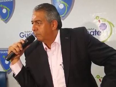 Jorge Mario Véliz postergó su renuncia a la Federación de Futbol de Guatemala. (Foto Prensa Libre: Carlos Vicente).