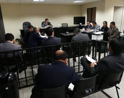 En el Juzgado Séptimo Penal, a cargo de José Alvarad, se discutió la reparación digna de los empresarios culpables en el caso Industria Militar. (Foto Prensa Libre: Kenneth Monzón)
