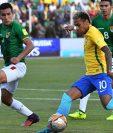 Neymar mostró su talento ante Bolivia, pese a que Brasil no pudo ganar. (Foto Prensa Libre: AFP).