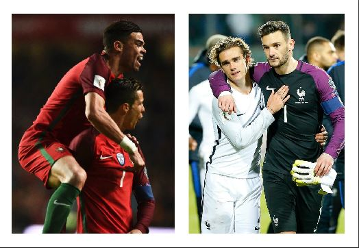 Las selecciones de Portugal y Francia siguen firmes en su camino a Rusia 2018. (Foto Prensa Libre: Agencias)