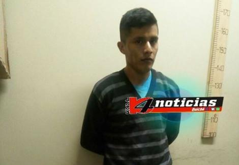 Martín Lem Gualim al momento de su captura en mayo último. Esta semana fue condenado por un tribunal de Quiché. (Foto Prensa Libre: Cortesía Knal 4 Quiché).