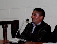 Wilmin Morales, alcalde de Palestina de los Altos, participa en audiencia en el Tribunal de Femicidio de Quetzaltenango. (Foto Prensa Libre: María José Longo).