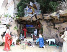 Nacimiento muestra el contexto en el que nació Jesús, según la Biblia. (Foto Prensa Libre: Julio Sicán).