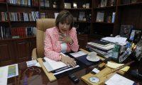 La presidenta electa de la CSJ aseveró que no pidió un carro para ella.(Foto Prensa Libre:Paulo Raquec)