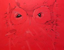"""El rojo y negro destacan en la muestra """"A ojo de pájaro"""", de """"El Tecolote"""". (Fotos, cortesía Galería El Túnel)"""