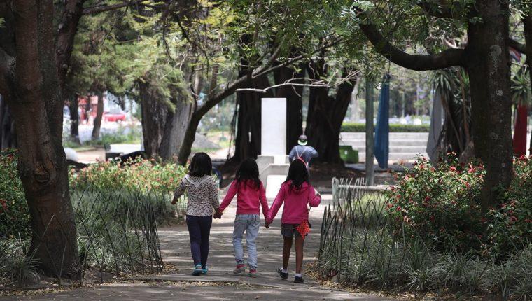 Vivir en las cercanías de áreas verdes o parques es beneficioso para el desarrollo integral de los niños. (Foto Prensa Libre: Paulo Raquec)
