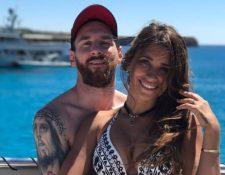 Lionel Messi junto a Antonella de descanso en las playas de Ibiza. (Foto Redes).