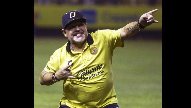 Diego Armando Maradona podría hacer historia en la Liga de Ascenso en México. (Foto Prensa Libre: AFP)