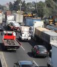 La circulación de transporte pesado estará restringido durante las fiestas de fin de año. (Foto Prensa Libre: Érick Ávila)