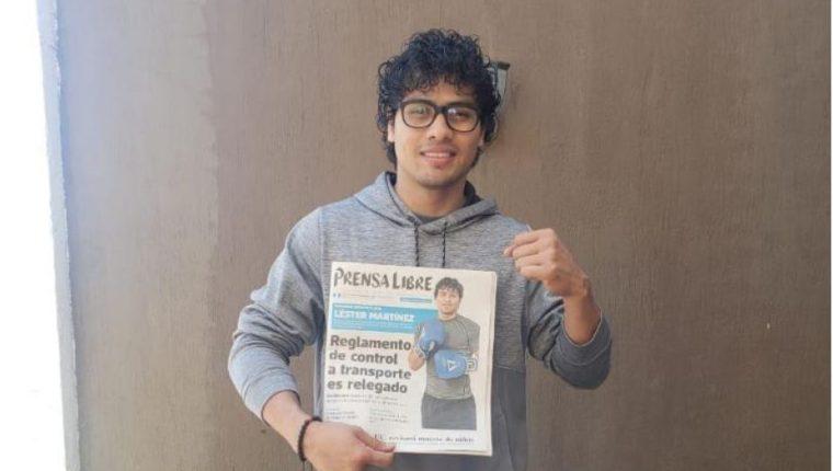Léster Martínez cerró con broche de oro el año. Fue el atleta destacado del año. (Foto Prensa Libre: Léster Martínez)