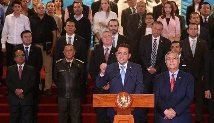 El presidente Jimmy Morales anunció el fin anticipado del mandato de la Cicig el pasado 7 de enero. (Foto Prensa Libre: Hemeroteca PL)
