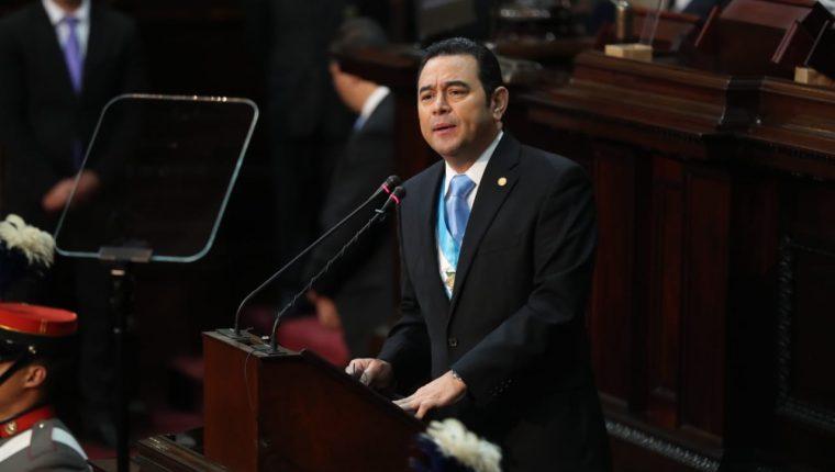 El Ejecutivo paga por los servicios profesionales de un psicólogo que analiza los discursos del presidente Jimmy Morales. (Foto Prensa Libre: Hemeroteca PL)