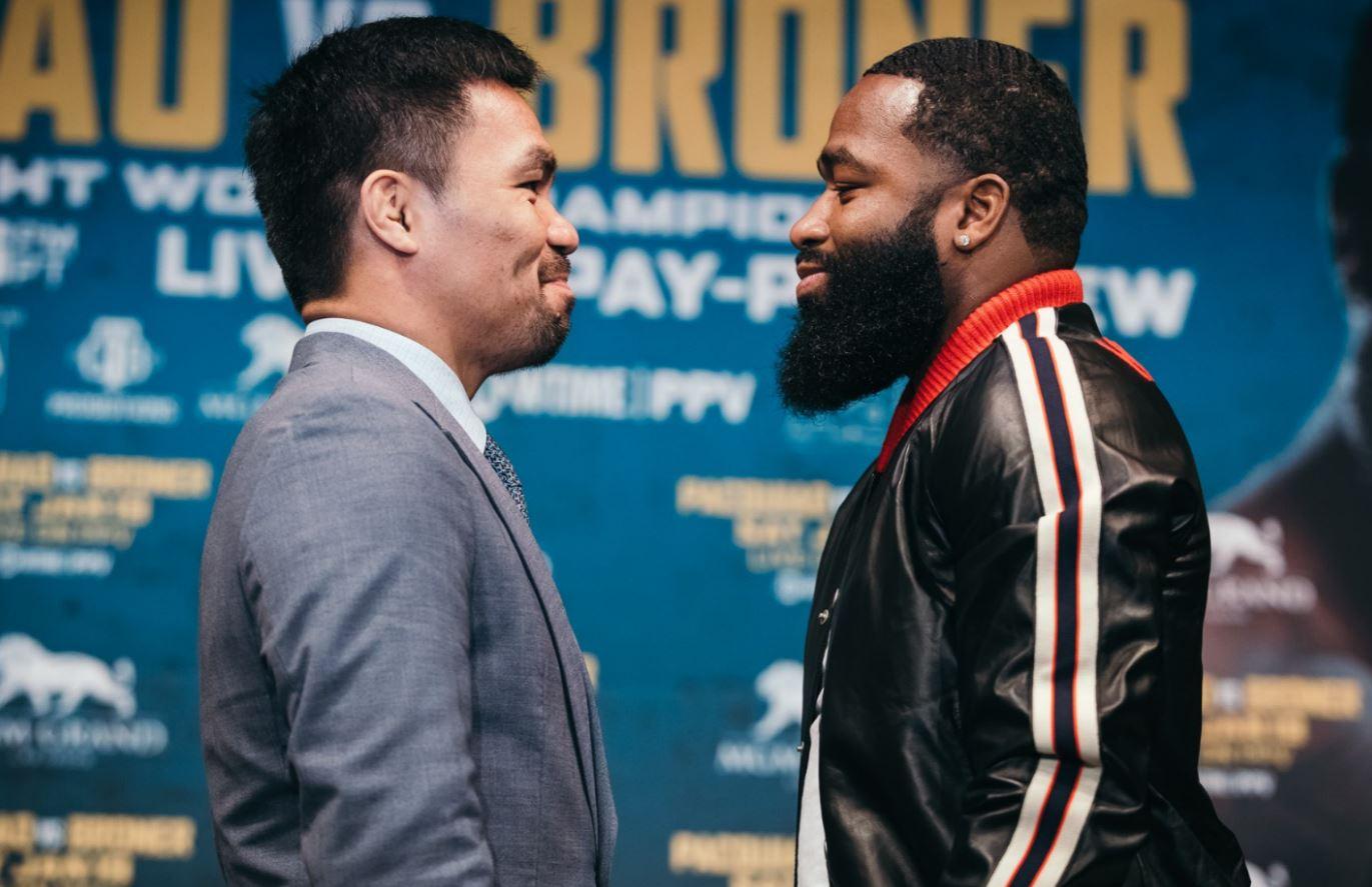 Manny Pacquiao y Adrien Broner medirán fuerzas en Las Vegas el próximo sábado. (Foto Cortesía Fox Premiun).