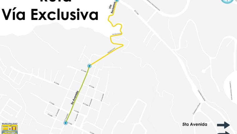 Vía que estará habilitada de forma permanente  desde la zona 1 de Santa Catarina Pinula hacia la 20 calle de la zona 10.(Foto Prensa Libre: cortesía)