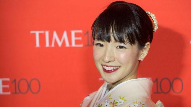 La japonesa Marie Kondo, de 34 años, se ha convertido en un fenómeno con su método para ordenar, llamado KonMari (GETTY IMAGES)