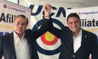 Mario Estrada y Javier Castillo son los candidatos a presidente y vicepresidente por la UCN. (Foto Prensa Libre: Óscar Rivas)